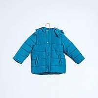Куртка зимняя детская для мальчика с капюшоном +теплая