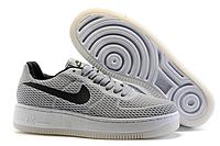 Мужские кроссовки Nike Air Force 1 low (grey/black) - 38Z