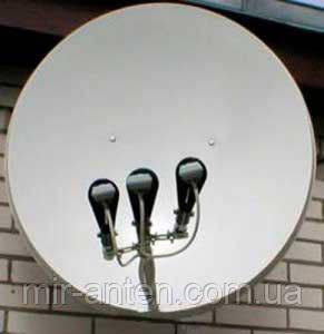 Комплект спутникового ТВ 4W, 5E, 13E с ресивером Тайгер х-90 шд