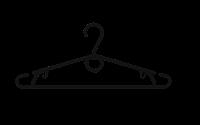 ПЛЕЧИКИ ПЛАСТМАССОВЫЕ №3 -В Кольцо  (черная)