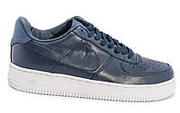 Мужские кроссовки  Nike Air Force 1 low leather (navy/white) - 67Z