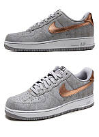 Мужские кроссовки  Nike Air Force 1 low (grey/gold/white) - 52Z