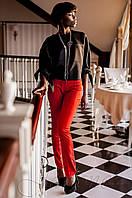 Стильные женские красные  брюки   Линколь Jadone  42-50 размеры