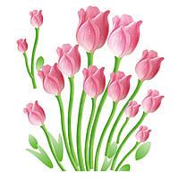 Наклейка виниловая Тюльпаны 3D декор