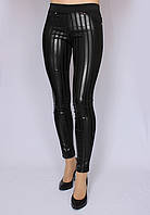 Лосины женские модель полоска черные, Размеры: 40-50