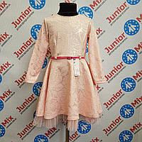 Платье на девочку нарядное под пояс Alessia.ПОЛЬША.