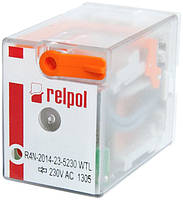 R4N-2014-23-5230-WTL RELPOL Реле промежуточное электромагнитное 4CO 6A 230VAC