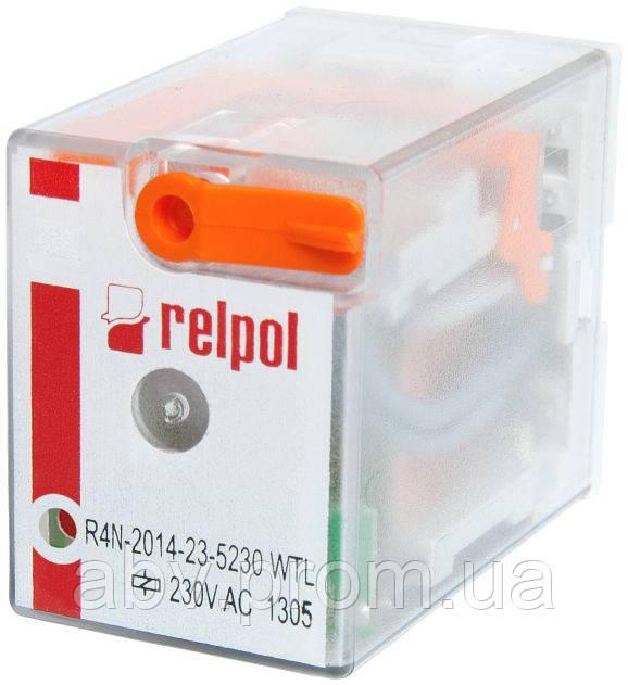 R4N-2014-23-5230-WTL RELPOL Реле промежуточное электромагнитное 4CO 7A 230VAC - АБВ СИСТЕМ в Киеве