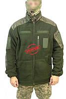 Куртка флисовая Олива с вставками