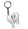 Брелок резиновый - зуб малый в ассортименте