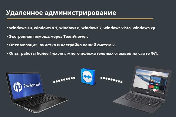 Окажем услуги по ремонту системы, через TeamViewer