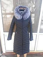 Зимняя  женская куртка   пальто с приталенным силуэтом в классическом стиле