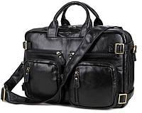 Кожаная сумка-рюкзак  Bag Black 7026A