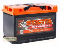 Аккумулятор Starta (Старта) 75 Ач на Газ Газель Волга Ваз
