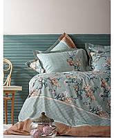 Комплект постельного белья Karaca Home Винтаж Layla зелёный