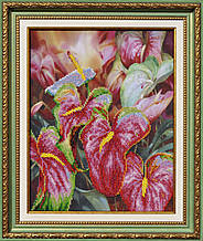 Набор для вышивания бисером Цветок фламинго