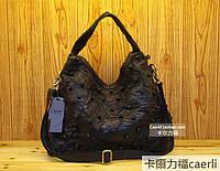 Стильная качественная большая кожаная сумка 2 цвета, фото 1