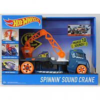 Грузовик с краном Hot Wheels со звуковыми и световыми эффектами DJC69