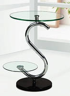 Столик стеклянный круглый СТ170 48*44*59 см (каленое стекло)