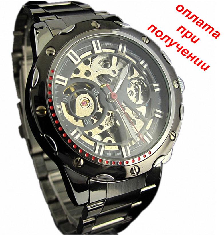 b4ae0b0c7295 Мужские механические, спортивные (военные) часы скелетон Winner Skeleton с  АВТОПОДЗАВОДОМ новинка!