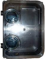 Бокс Пластиковый Днепр Прозрачное стекло под Трехфазный счетчик и шесть автоматических выключателя
