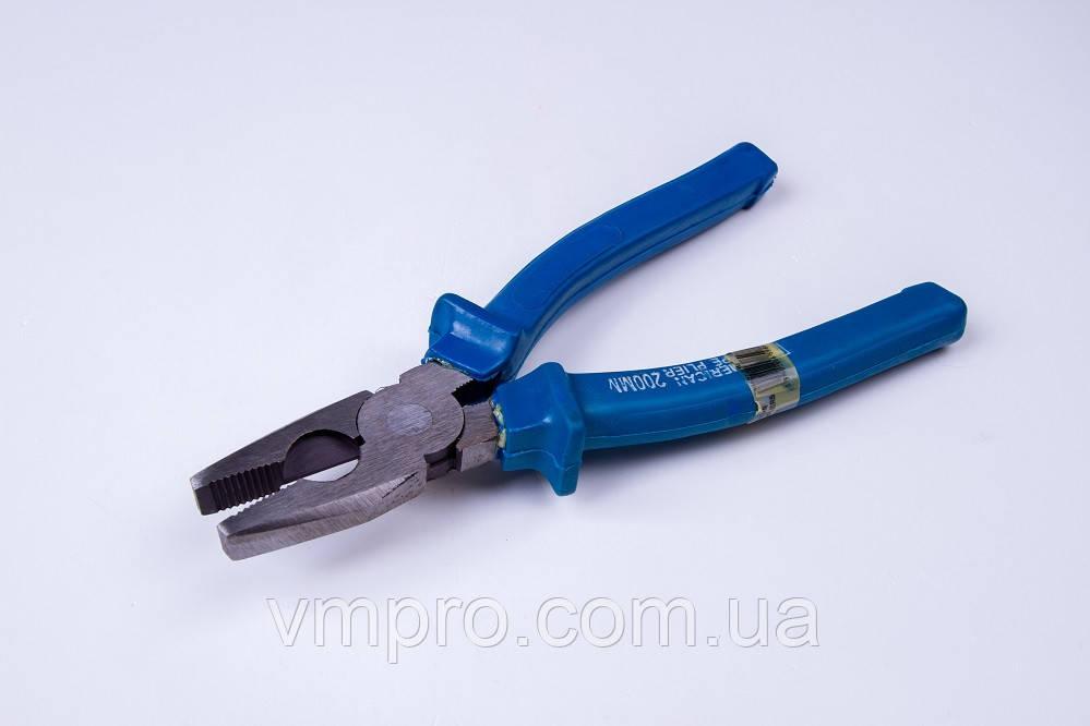 Плоскогубці Amerikan Type 180 мм, 45-55 HRC, сині ручки
