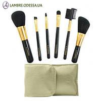 Набор из 6 кистей для макияжа в золотом футляре