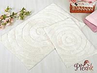 Набор ковриков для ванной хлопок 60х90, 40х60 см. IRYA WAVES KREM