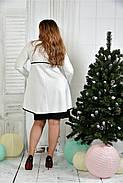 Женское нарядное платье для праздника 0377 цвет молочный размер 42-74 / батальное, фото 4