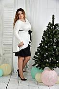 Женское нарядное платье для праздника 0377 цвет молочный размер 42-74 / батальное, фото 3