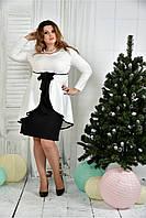 Женское нарядное платье для праздника 0377 цвет молочный размер 42-74 / батальное