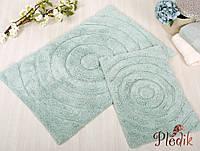 Набор ковриков для ванной хлопок 60х90, 40х60 см. IRYA WAVES MINT