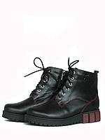 Кожаные ботинки на шнуровке женские