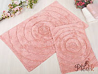 Набор ковриков для ванной хлопок 60х90, 40х60 см. IRYA WAVES PEMBE