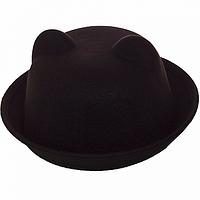 Шляпка зимняя черная женская