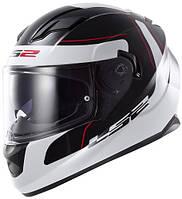 Шлем интеграл LS2 FF320 STREAM LUNAR BLACK-WHITE