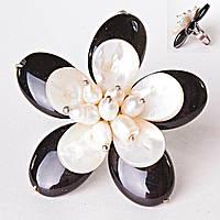 Кольцо без р-р  цветок Перламутр на гвоздике