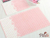Набор ковриков для ванной 60х100, 45х60 см. IRYA LAVINYA персиковый