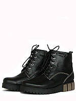 Зимние ботинки женские на низком ходу