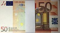 Пачка денег сувенирные 50 ЕВРО