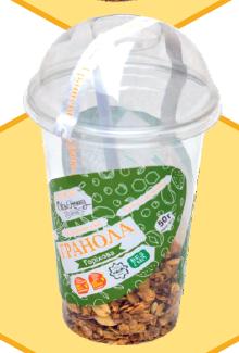 """Гранола """"Горіхова"""" в пластиковому стаканчику 50 г - ОРА АГРО-ЕКО. Виробник ЕКО продуктів та Квітів! в Львовской области"""