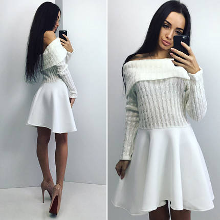 Платье с юбкой неопрен, фото 2