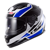 Шлем интеграл LS2 FF320 STREAM OMEGA WHITE-BLACK-BLUE