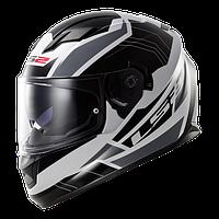 Шлем интеграл LS2 FF320 STREAM OMEGA WHITE-BLACK-TITANIUM