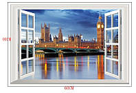 Наклейка виниловая Пейзаж Лондон 3D декор