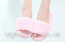 Тапочки домашние женские пушистые мягкие розовые Shato