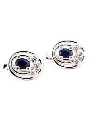 Сережки срібні з сапфіром Е-575-сф
