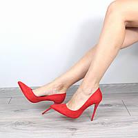 Туфли женские лодочки на шпильке Selesta красные
