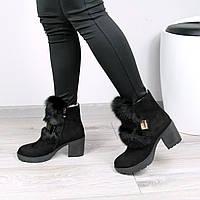 Ботинки женские Emma натуральный кролик 37 размер, зимняя обувь