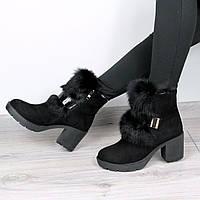Ботинки женские зимние Emma натуральный кролик, зимняя обувь